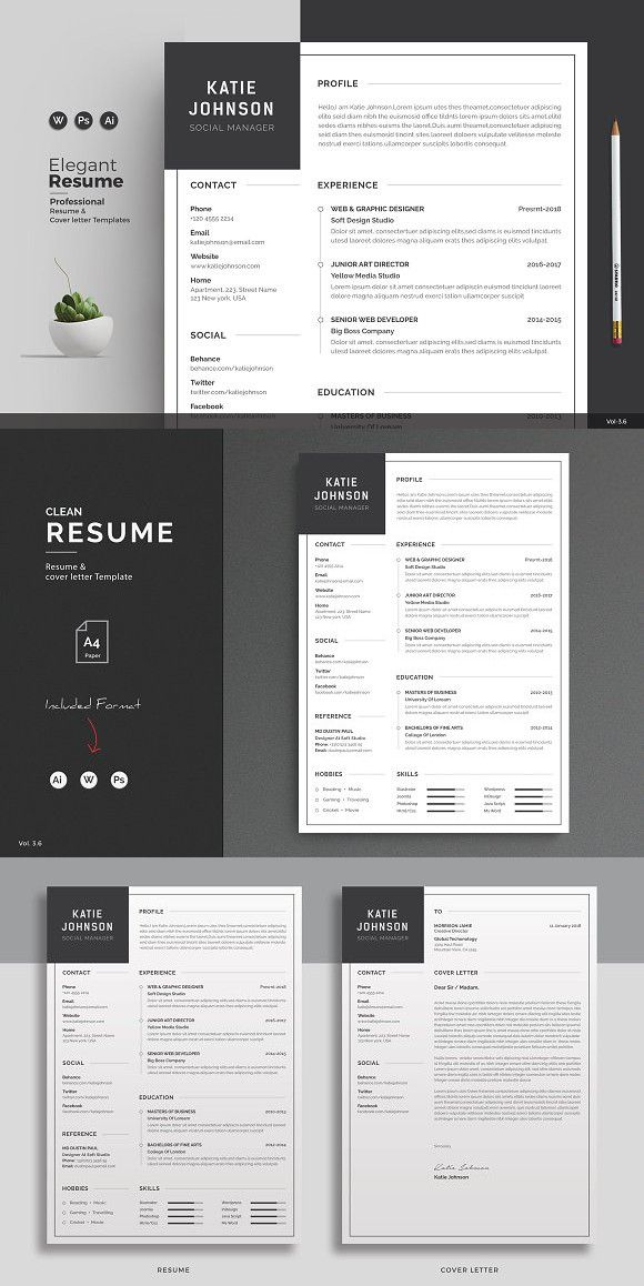 Resume/CV Resume cv, Cv resume template and Professional resume
