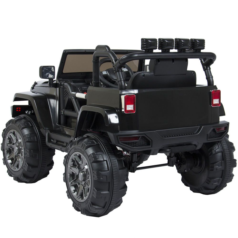 Electric Car Jeep Kids Toys Ride On 12v Rc Remote Control Outdoor