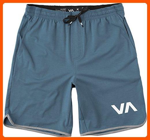 Black RVCA Mens VA Sport Yogger III Training Shorts