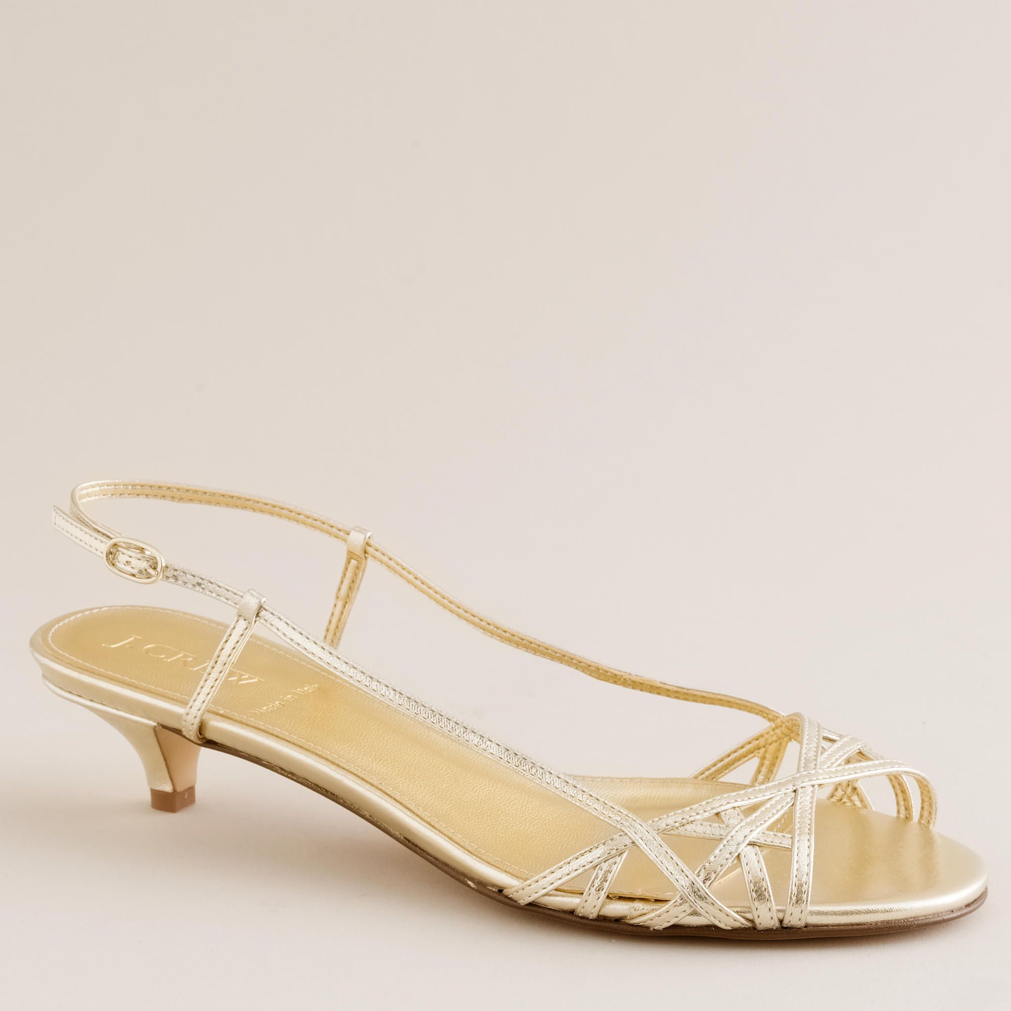 Jillian Strappy Kitten Heels Bridesmaid Shoes Low Heel Shoes Wedding Shoes Low Heel