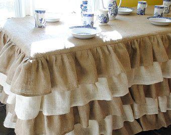 Ruffled Burlap Table Cloth By PaulaAndErika On Etsy
