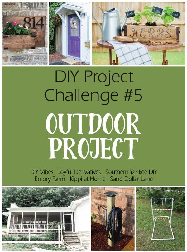DIY Project Challenge #5 Outdoor Project Check out this month's amazing DIY projects! #diyblog #diyprojectchallenge #diy #outdoorproject #lawnproject #homeexterior