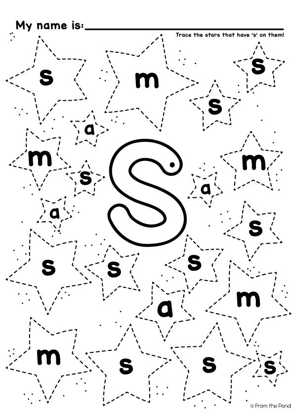 Let\'s Learn the Letter Sound S | Worksheets, Free and Pre-school