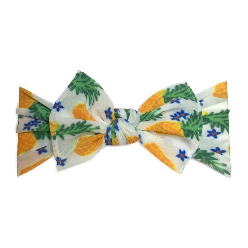 97ecd88822788 Baby Bling Bow Knot Headband in Pineapple Floral