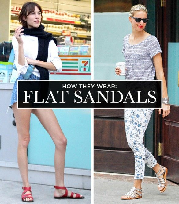 741b24c9c8e A Celebrity Guide To Wearing Flat Sandals via  WhoWhatWear