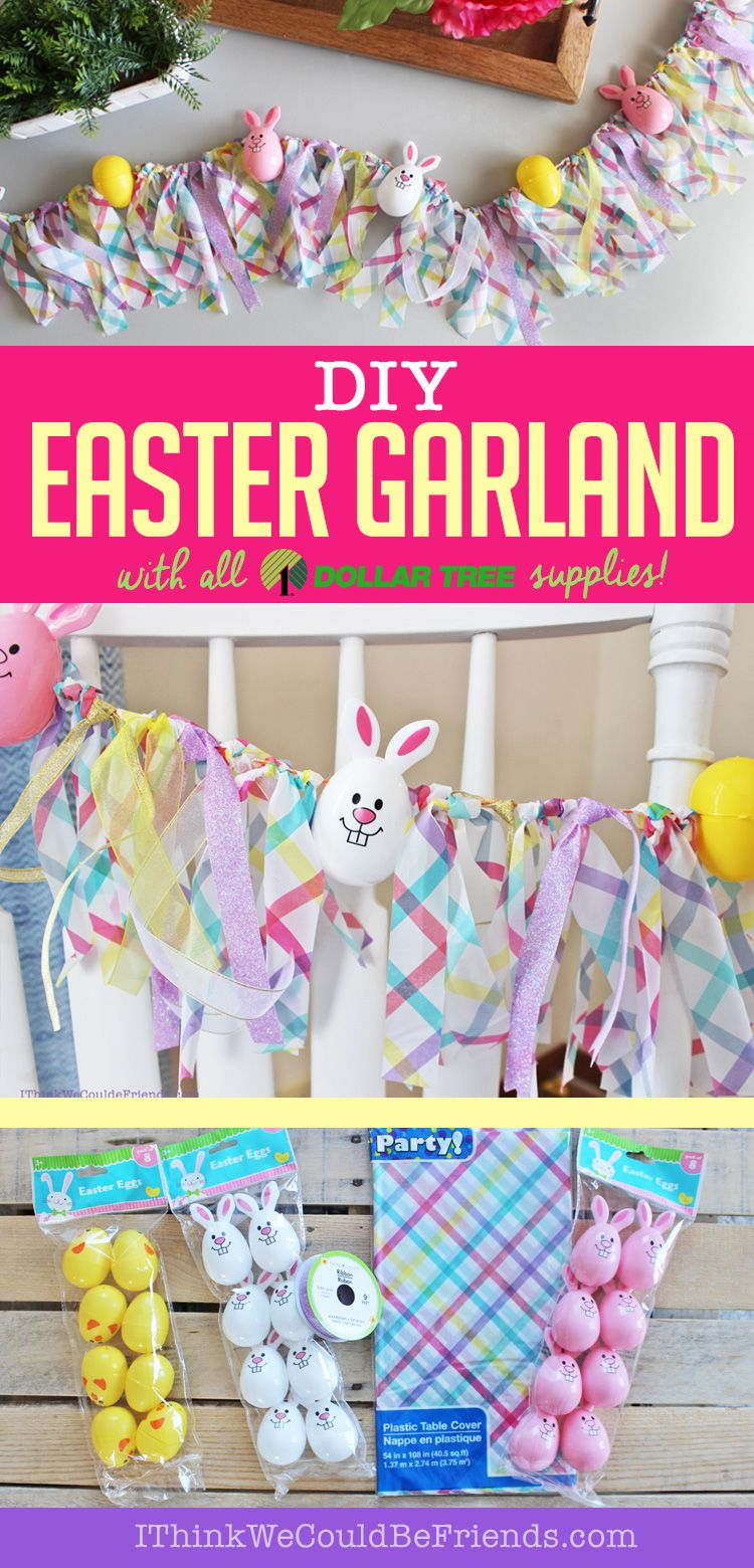 DIY Easter Egg Garland Decoration With Dollar Tree Items Quick Easy Craft In 15 Min For 5