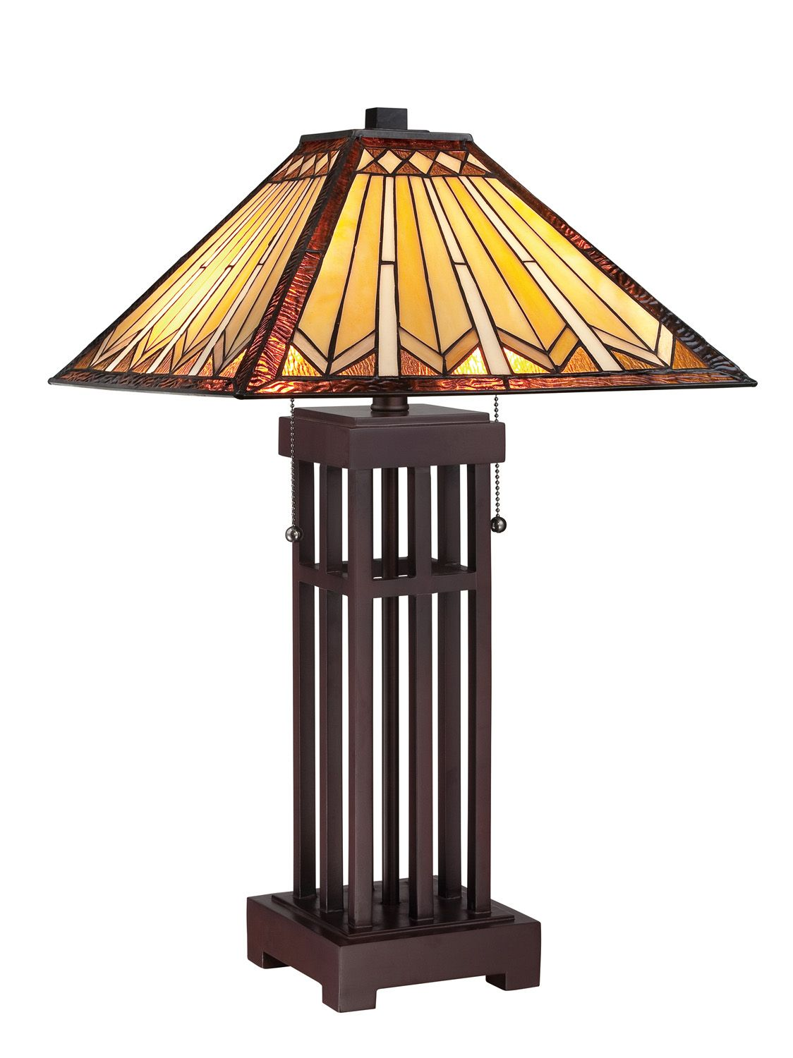 Quoizel Craftsman Mission Style Table Lamp Bronze Table Lamp Table Lamp Lamp