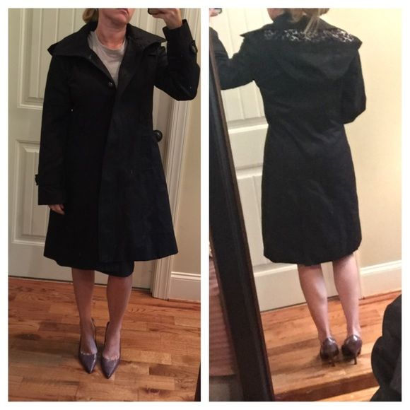 Black dress raincoat