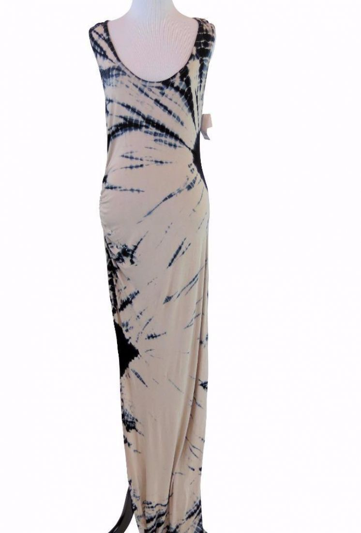 Felicity Coco Tie Dye Side Ruched Jersey Maxi Dress Extra Large