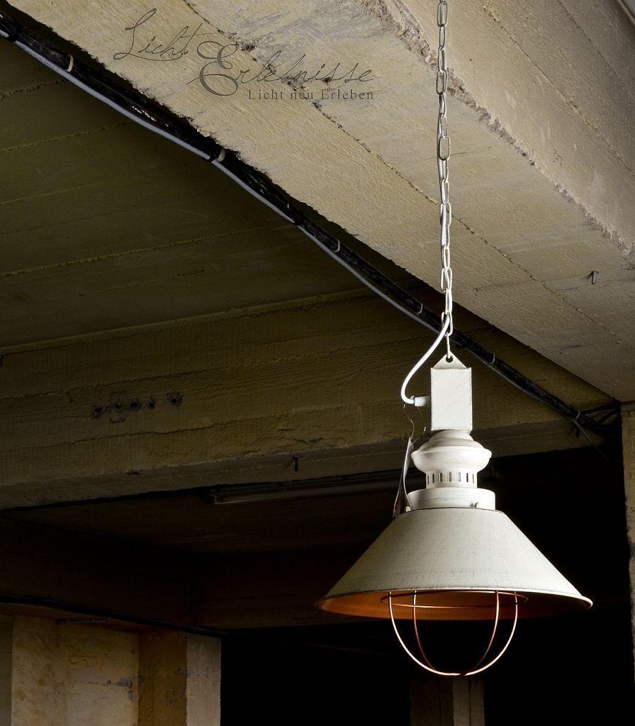 Industrie Hängeleuchte Hängelampe Loft E27 Lampe Weiß