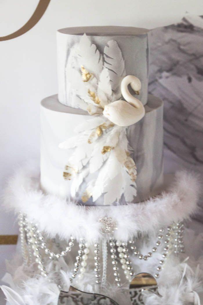 Swan Soiree Birthday Party Swans Birthdays and Cake