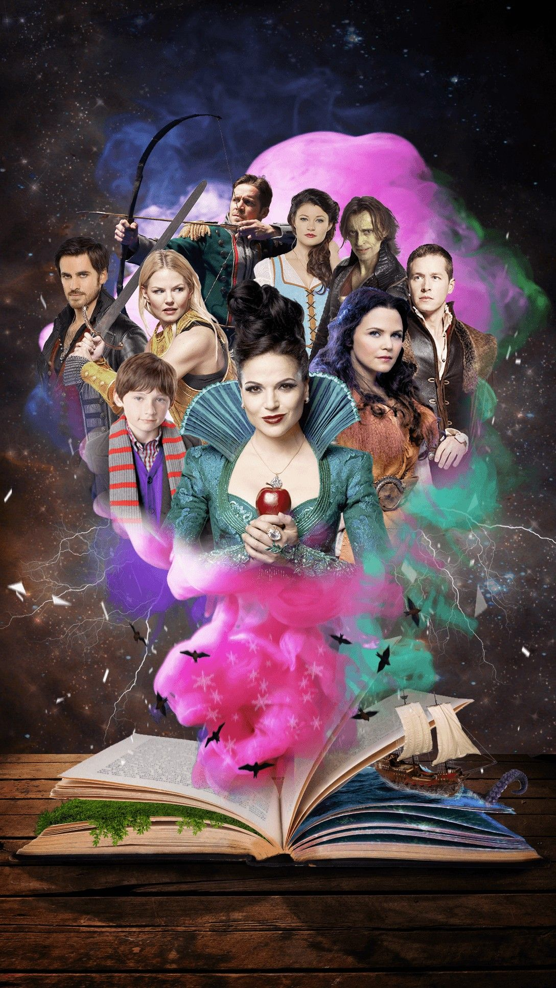 New once Upon A Time Wallpaper iPhone em 2020 Netflix