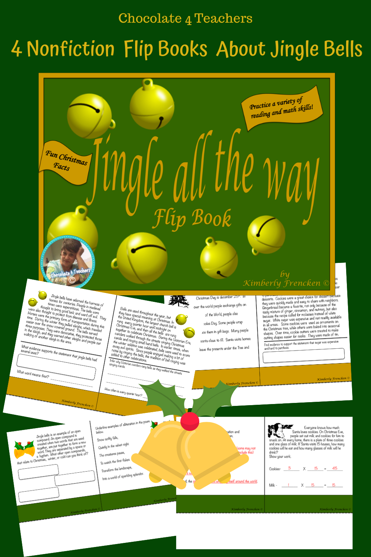 Jingle Bells Christmas Themed Daily Work Flip Book For Non Fiction Math Ela Flip Book Writing Skills Math