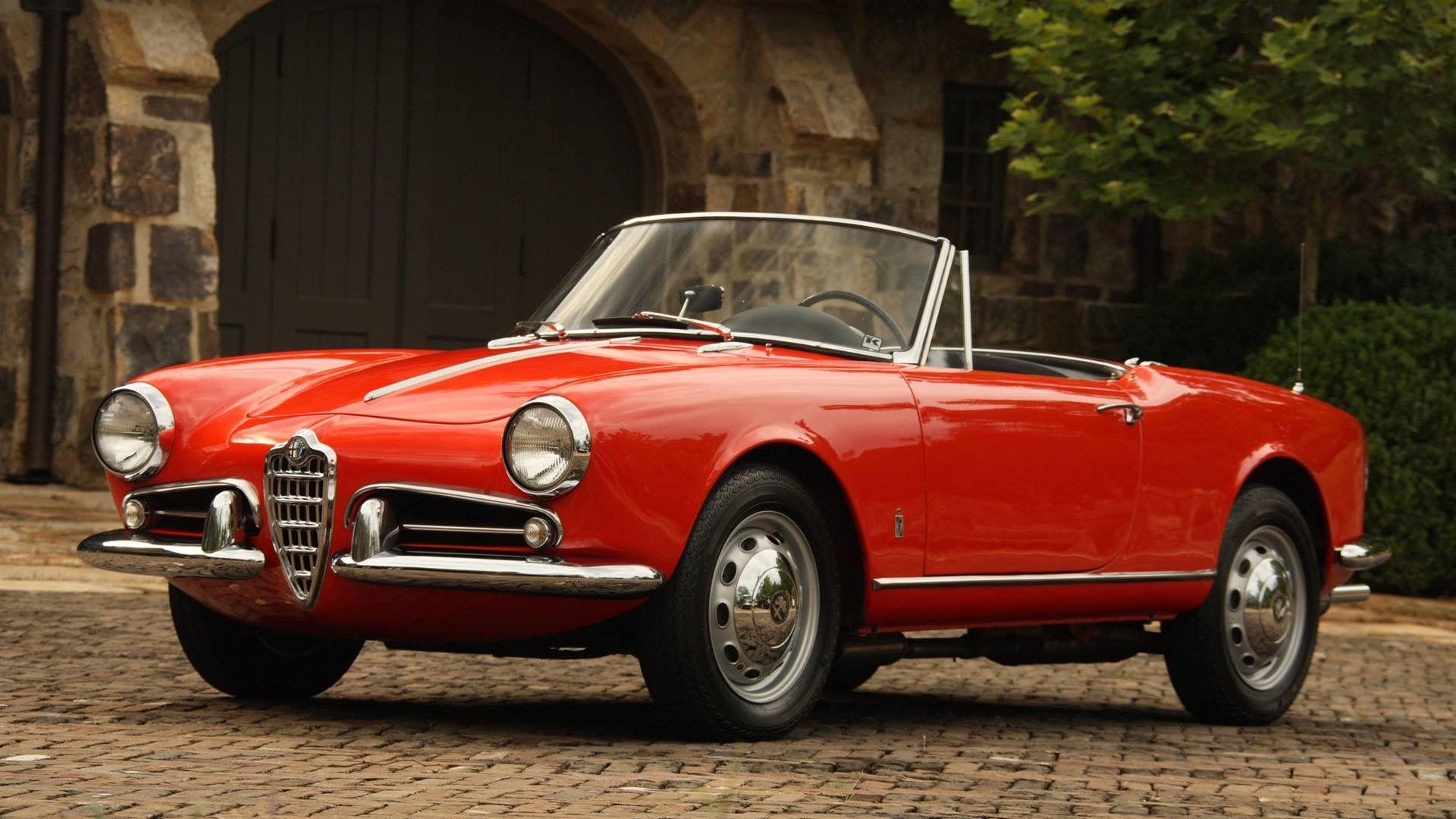 Vintage Alfa Romeo >> Gorgeous Alfa Romeo In Red Classic Alfa Convertible