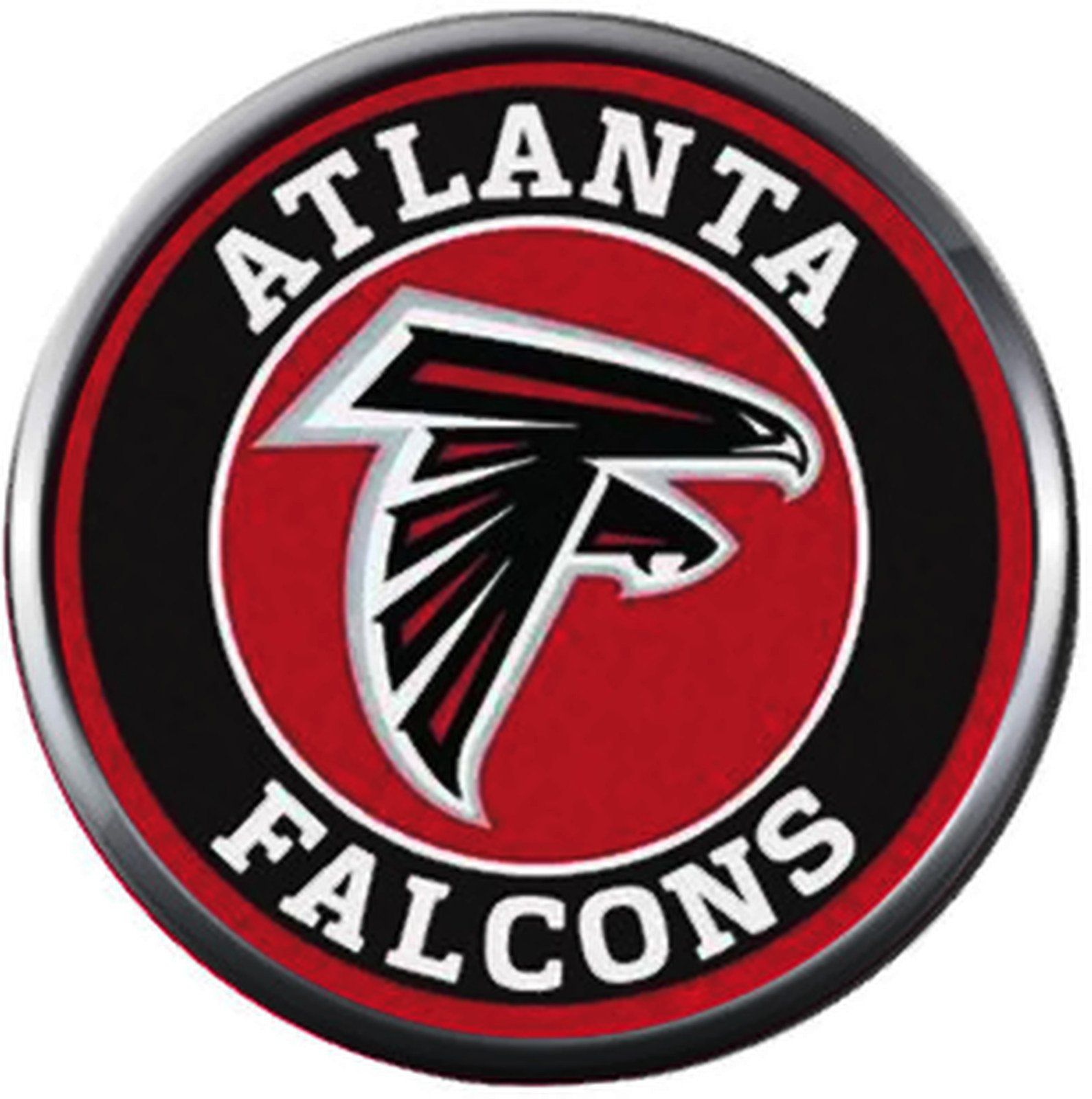 Nfl Atlanta Falcons Circle Logo Football Game Lovers Team Spirit 18mm 20mm Fashion Jewelry Snap Charm Atlanta Falcons Logo Atlanta Falcons Atlanta Falcons Jersey
