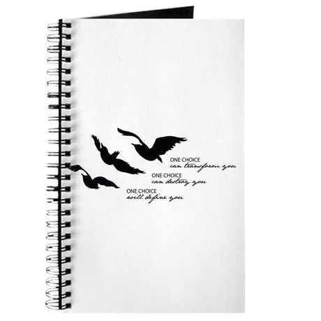 Divegent - Ravens Tattoo Tagline Journal on CafePress.com