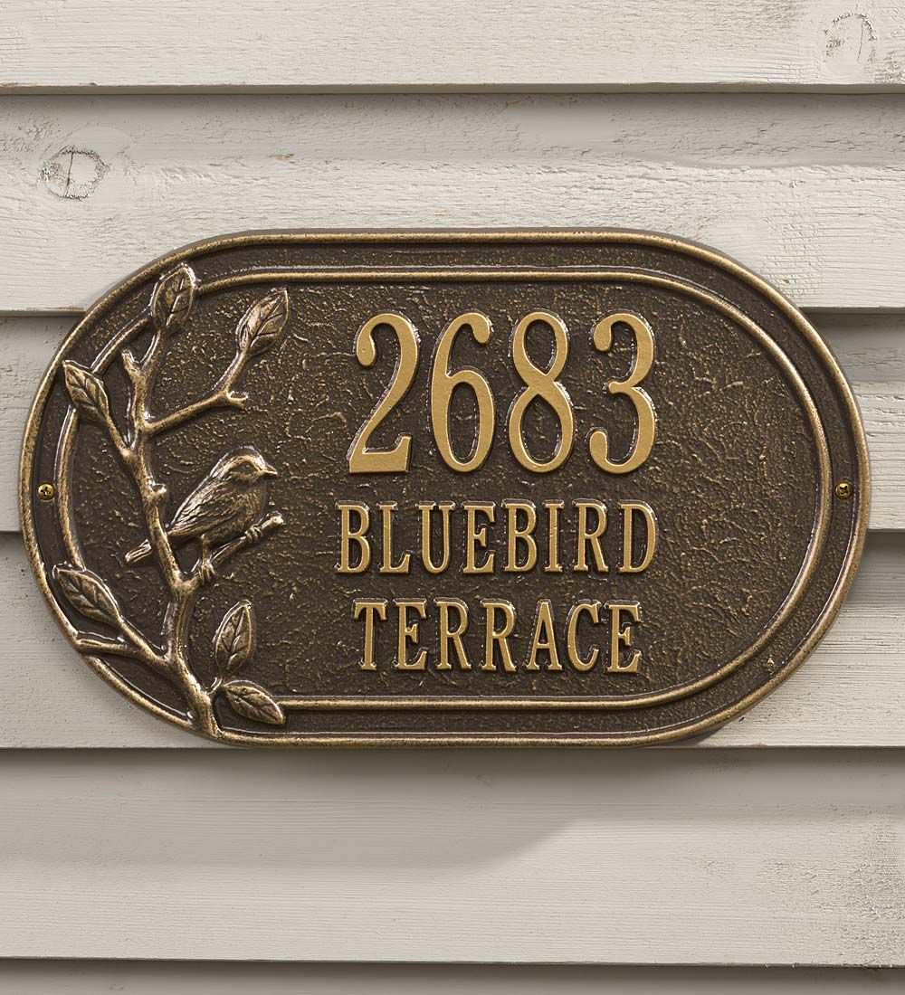 Personalized House Plaque With Bluebird Address Signs House