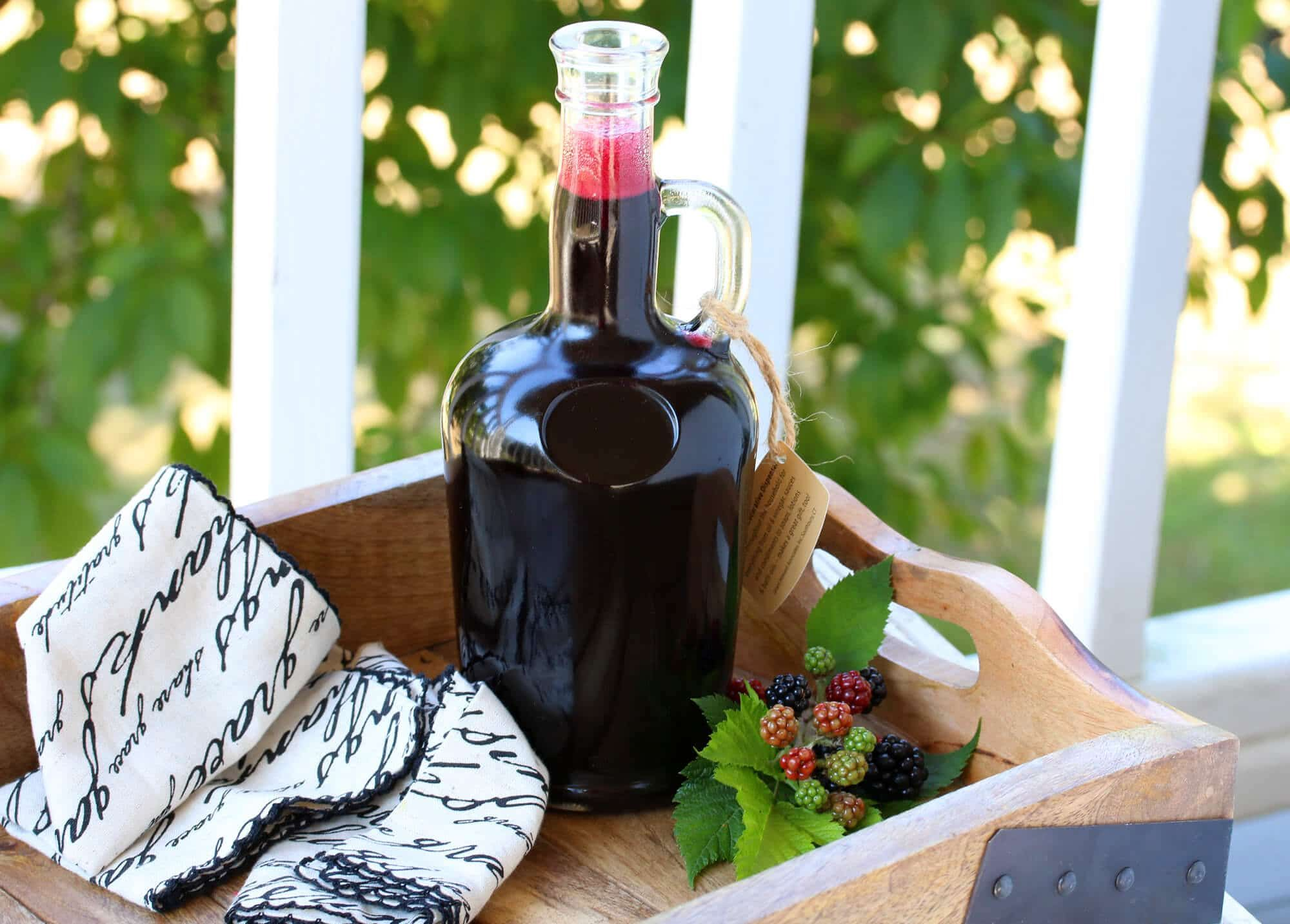Homemade blackberry syrup or berry of choice recipe