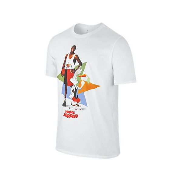 6e936f443c9675 Looney Tunes · Nike Men s Air Jordan Retro 7 WB Hare Poster T-Shirt