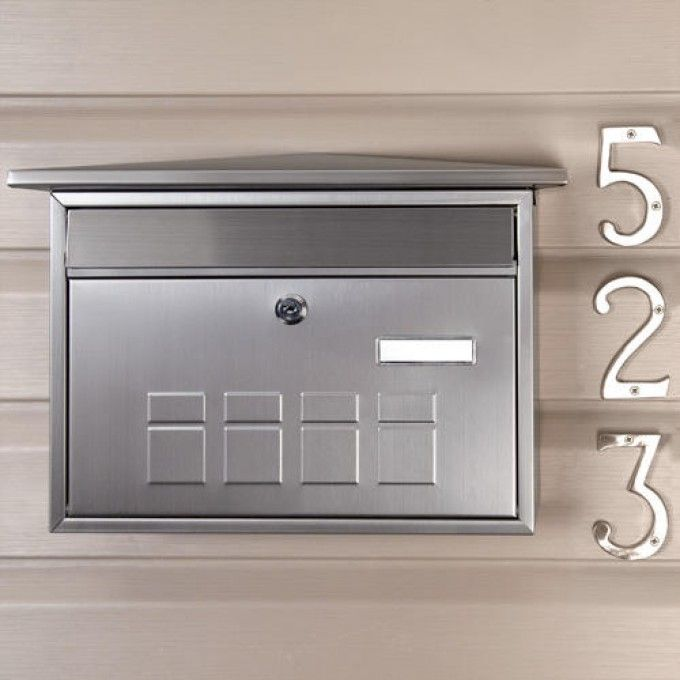 Deco Locking Wall Mount Mailbox Stainless Steel Wall Mount Mailbox Mounted Mailbox Mailboxes For Sale Wall mounted mailboxes with locks