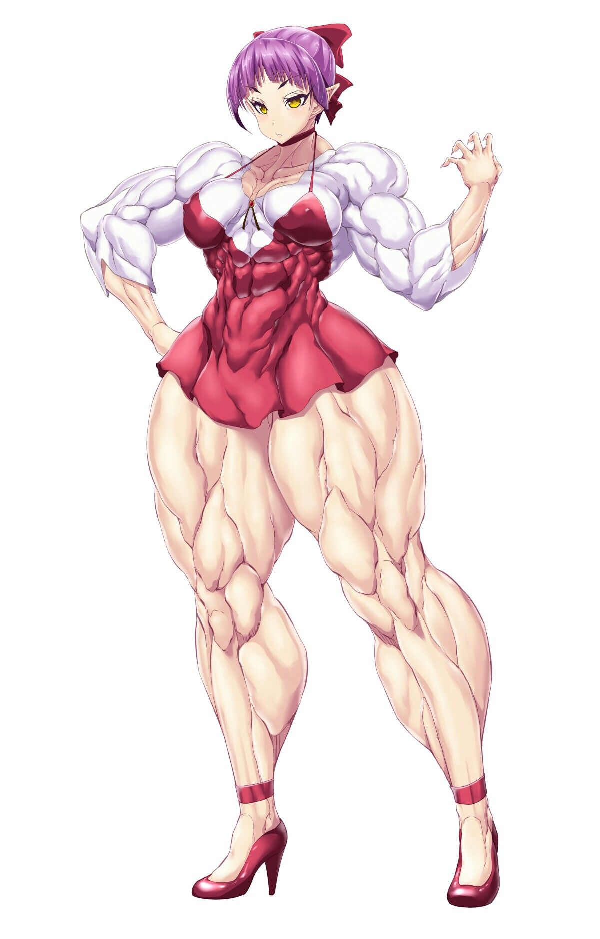 Pin By Enzio On Massive Anime Female Muscle Growth Muscle Girls