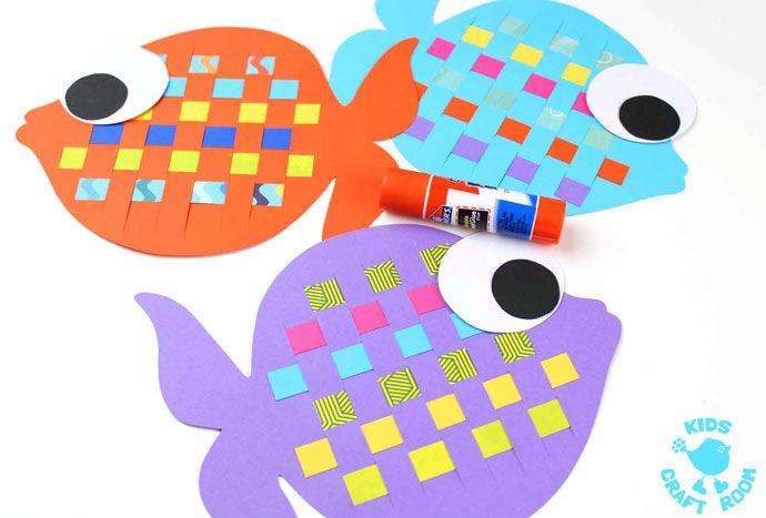 Paper Weaving Fish Craft Nurture Group Fish Crafts Fish Crafts