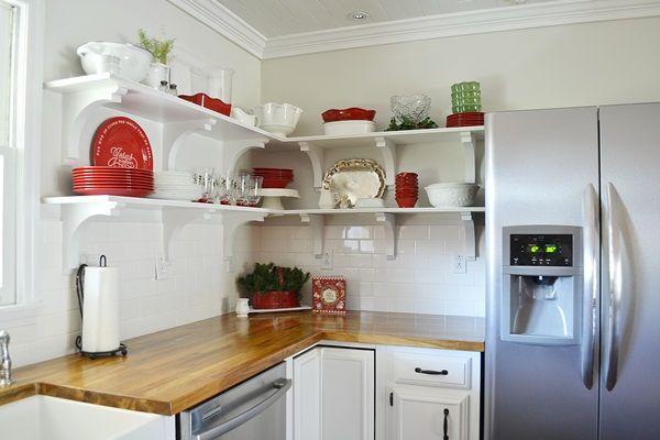 Get Inspired Kitchen Minimakeover Ideas  Open Shelves Shelves New Mini Kitchen Designs Design Inspiration