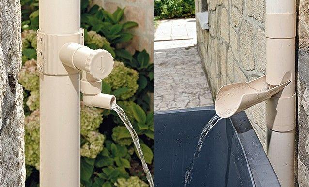 Un récupérateur du0027eau qui se fond dans votre jardin  écologique et - recuperation eau de pluie maison