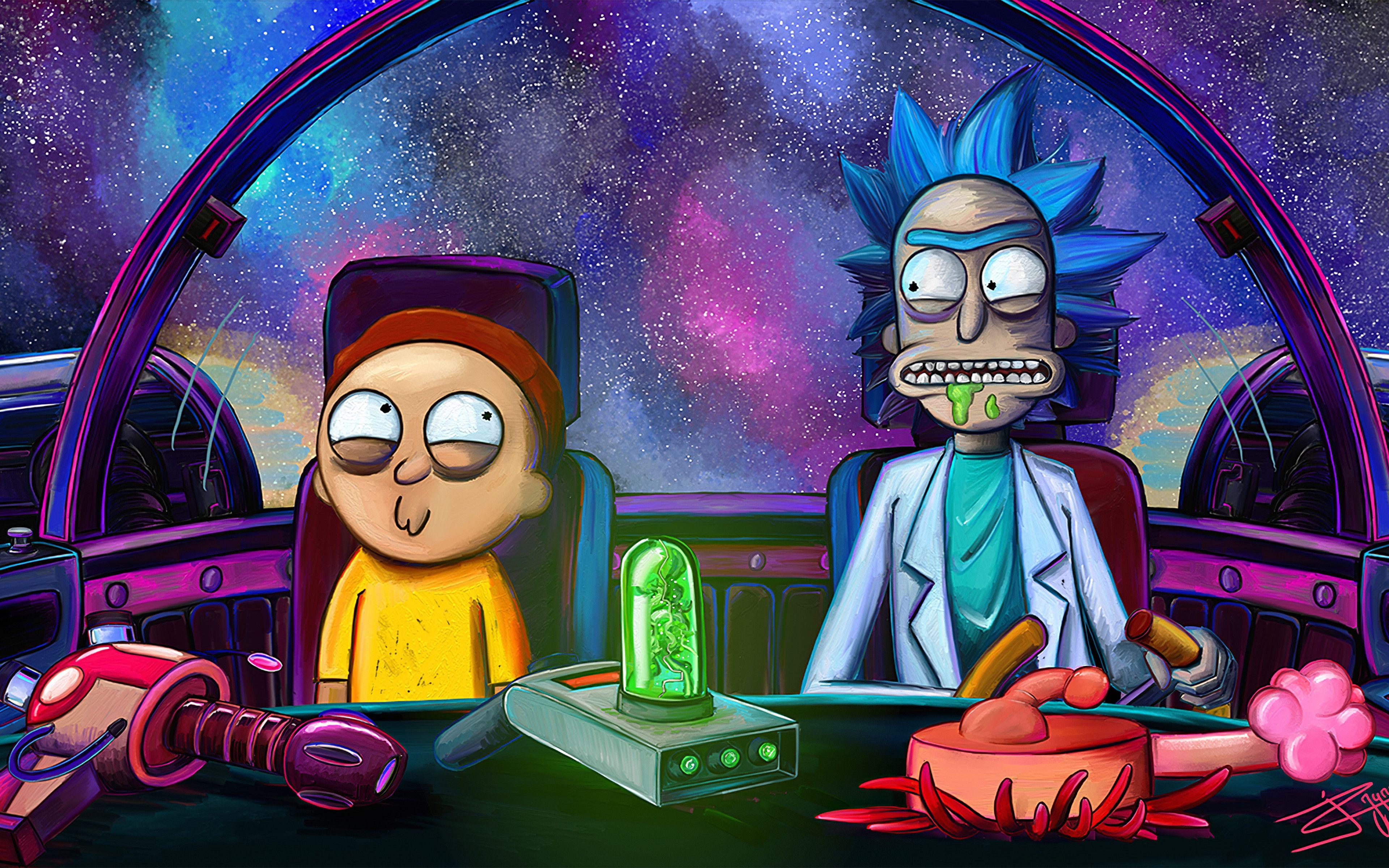 Rick And Morty En Nave Fondo De Pantalla 4k Ultra Hd Id 4518 En 2020 Fondo De Pantalla De Anime Fondo De Pantalla Animado Personajes De Rick Y Morty