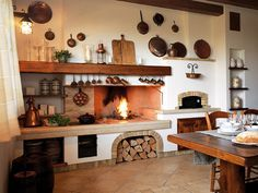 cucina rustica con camino - Cerca con Google | Cucine ...