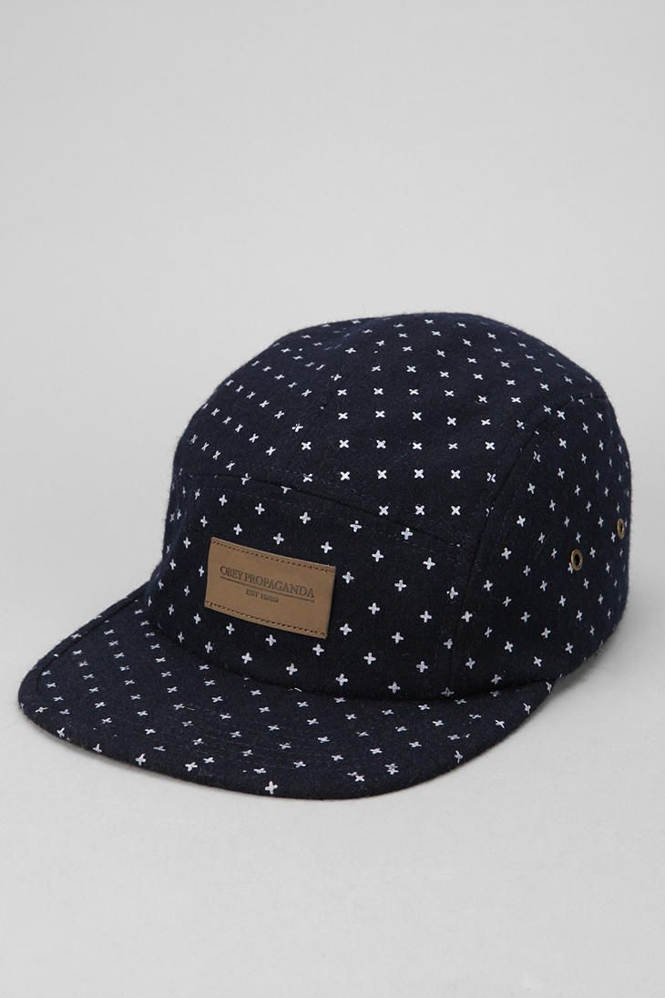 146577d97edf0 OBEY Auxiliary 5-Panel Hat    Indie Clothing Brands UK Streetwear ...