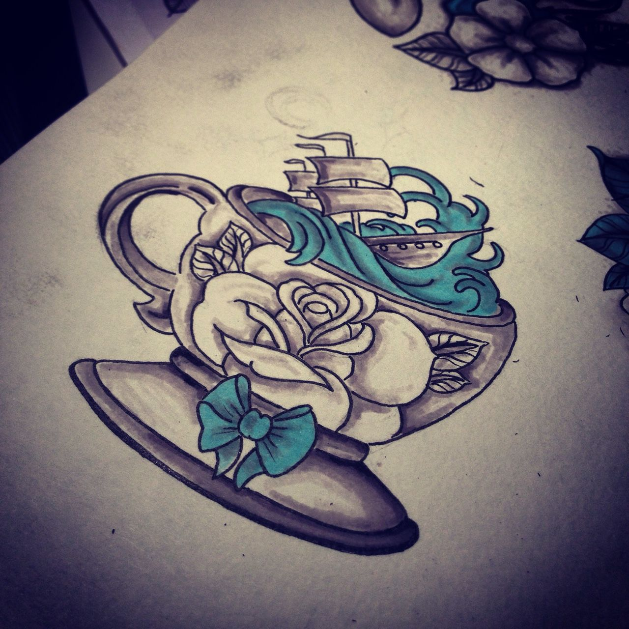storm in a teacup tattoo | Tattoo ideas | Pinterest | Inspiration