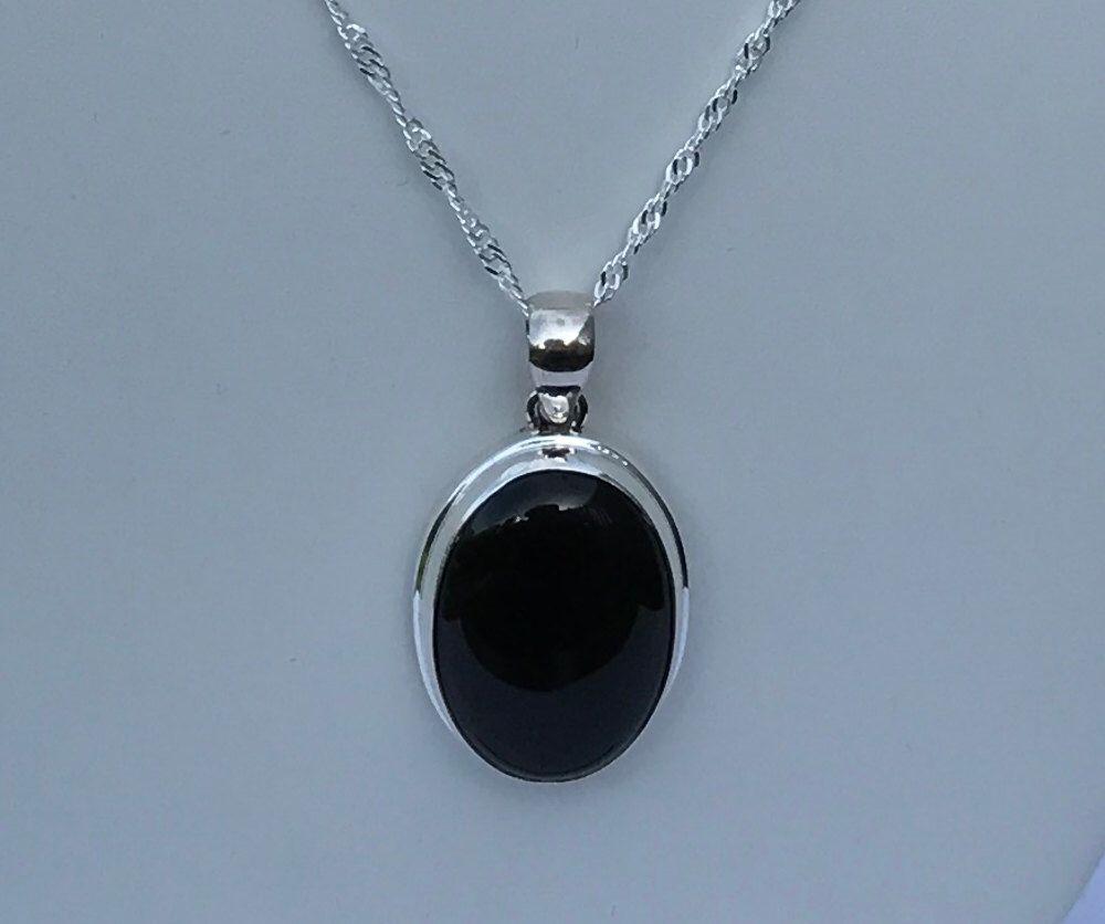 Large agate pendant black agate necklace silver necklace a personal favorite from my etsy shop httpsetsy onyx necklaceblack necklacesilver necklacespendant aloadofball Image collections