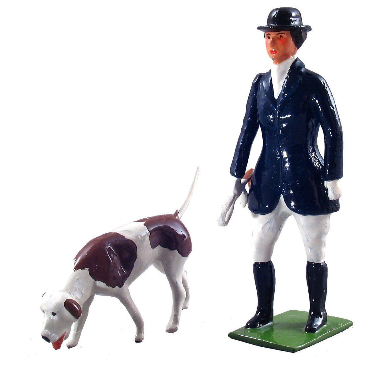 WBritain Huntswoman and Hound in TOY SOLDIERS