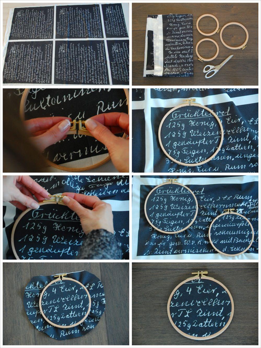 Stoff in Stickrahmen einspannen | DIY | Pinterest | Stickrahmen ...
