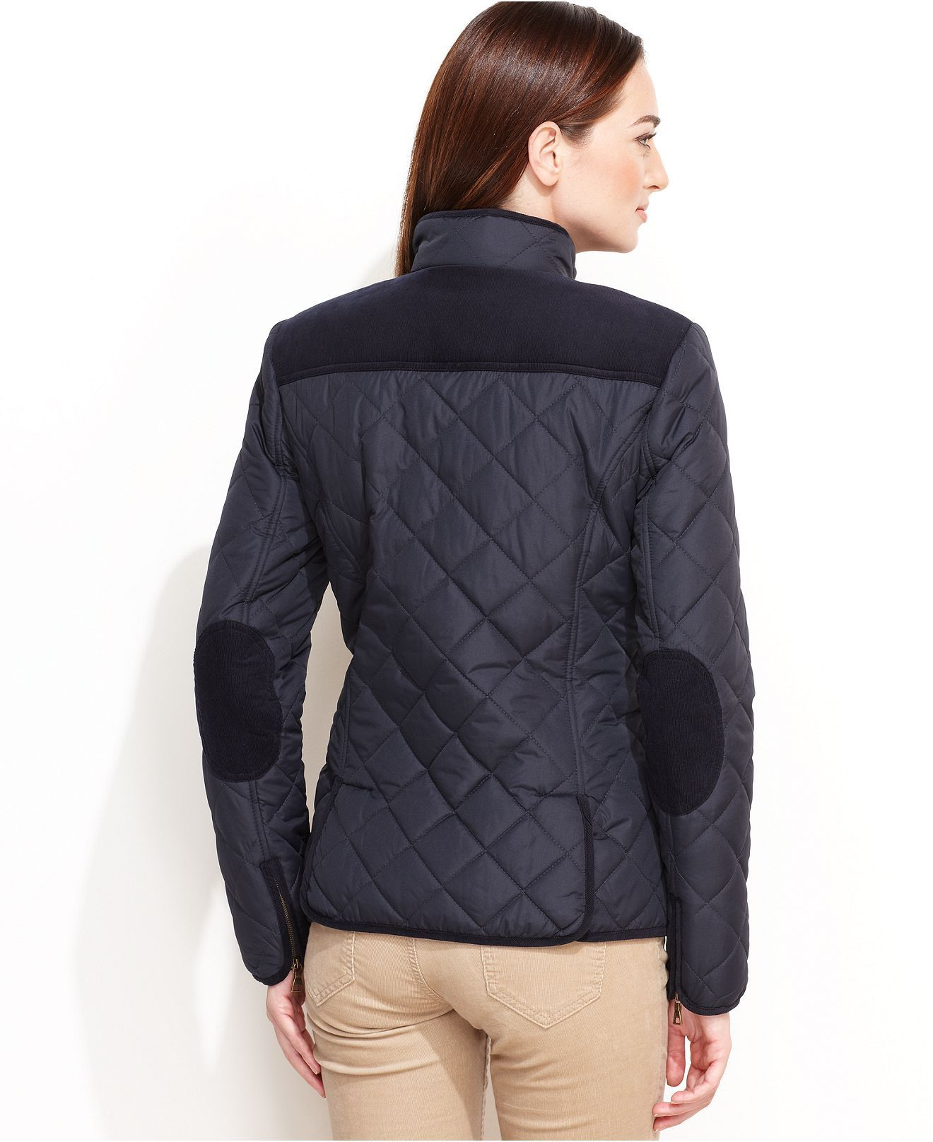 Tommy Hilfiger Jacket, Quilted Barn Corduroy Coats Women