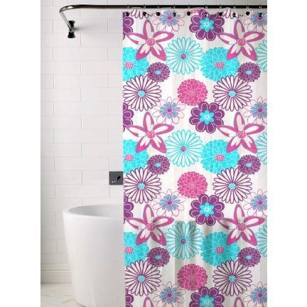 Skipper Pink And Blue Shower Curtain Add Oodles Of Style To Your