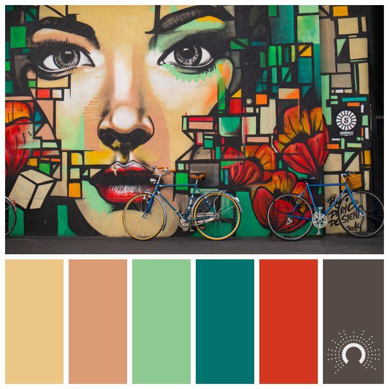 Wandfarben Farbpalette Gelb: Color Palette, Color Combination, Color Combo, Farbpalette