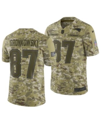 ee5a3b9f Nike Men's Rob Gronkowski New England Patriots Salute To Service Jersey 2018  - Green 3XL