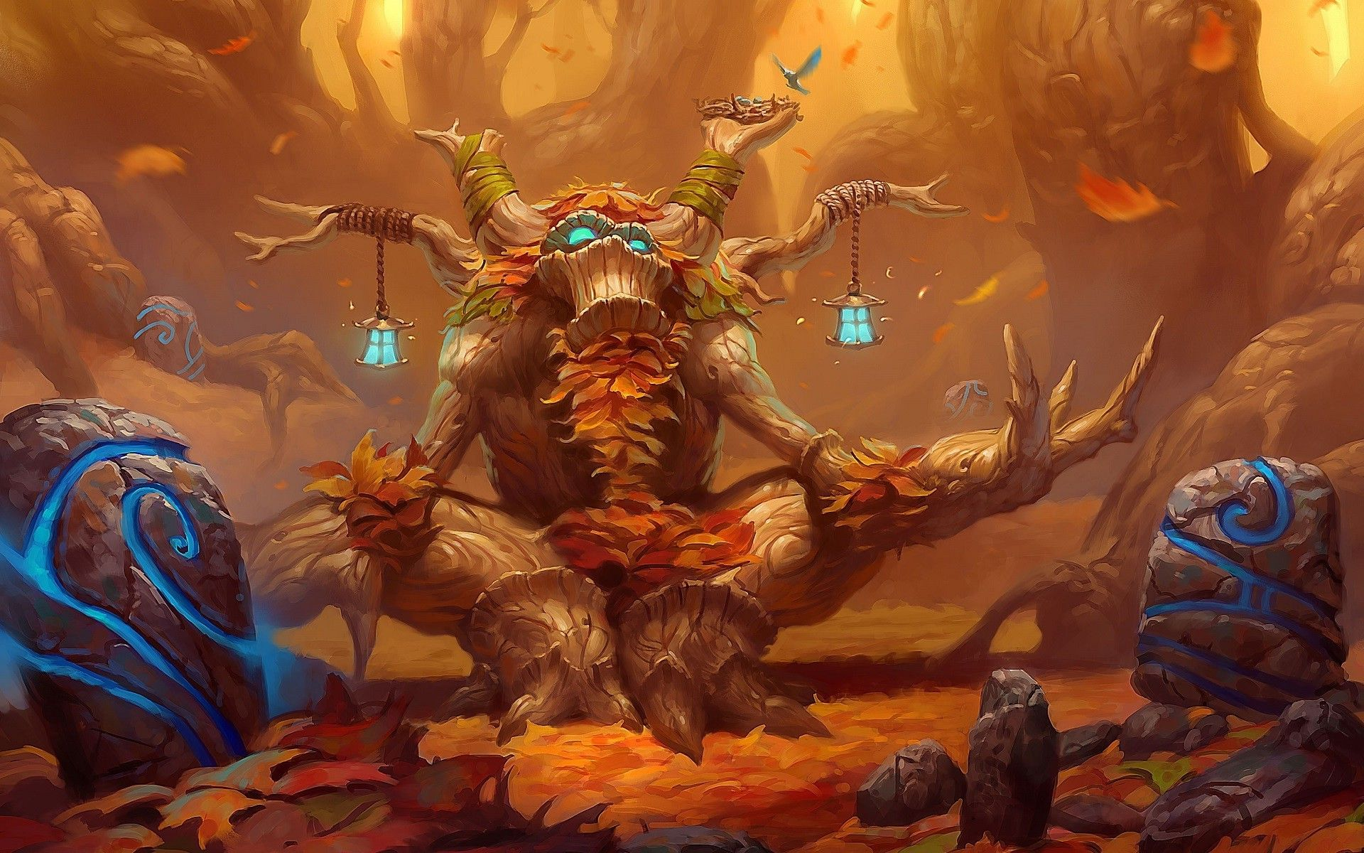 Hearthstone Heroes Of Warcraft World Of Warcraft Druid World Of Warcraft Wallpaper Warcraft Art
