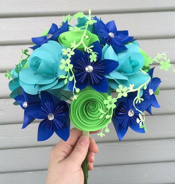 Kusudama paper flower bouquet by MyWoollyMammoth on Etsy | Kusudamák ...
