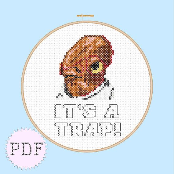 INSTANT DOWNLOAD Star Wars Cross Stitch PDF Pattern Admiral Ackbar ...