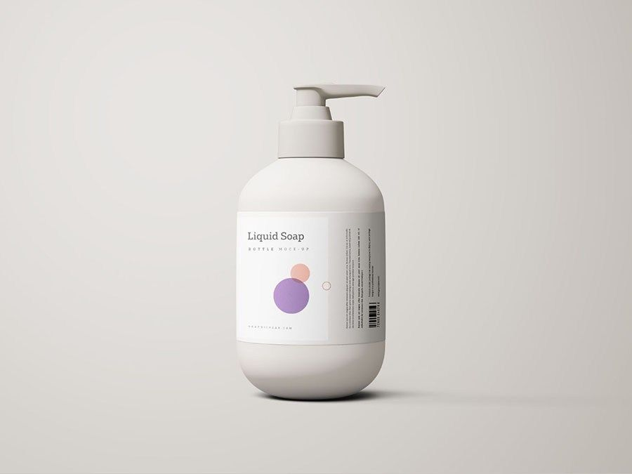 Free Liquid Soap Bottle Mockup Bottle Mockup Cosmetics Mockup Soap