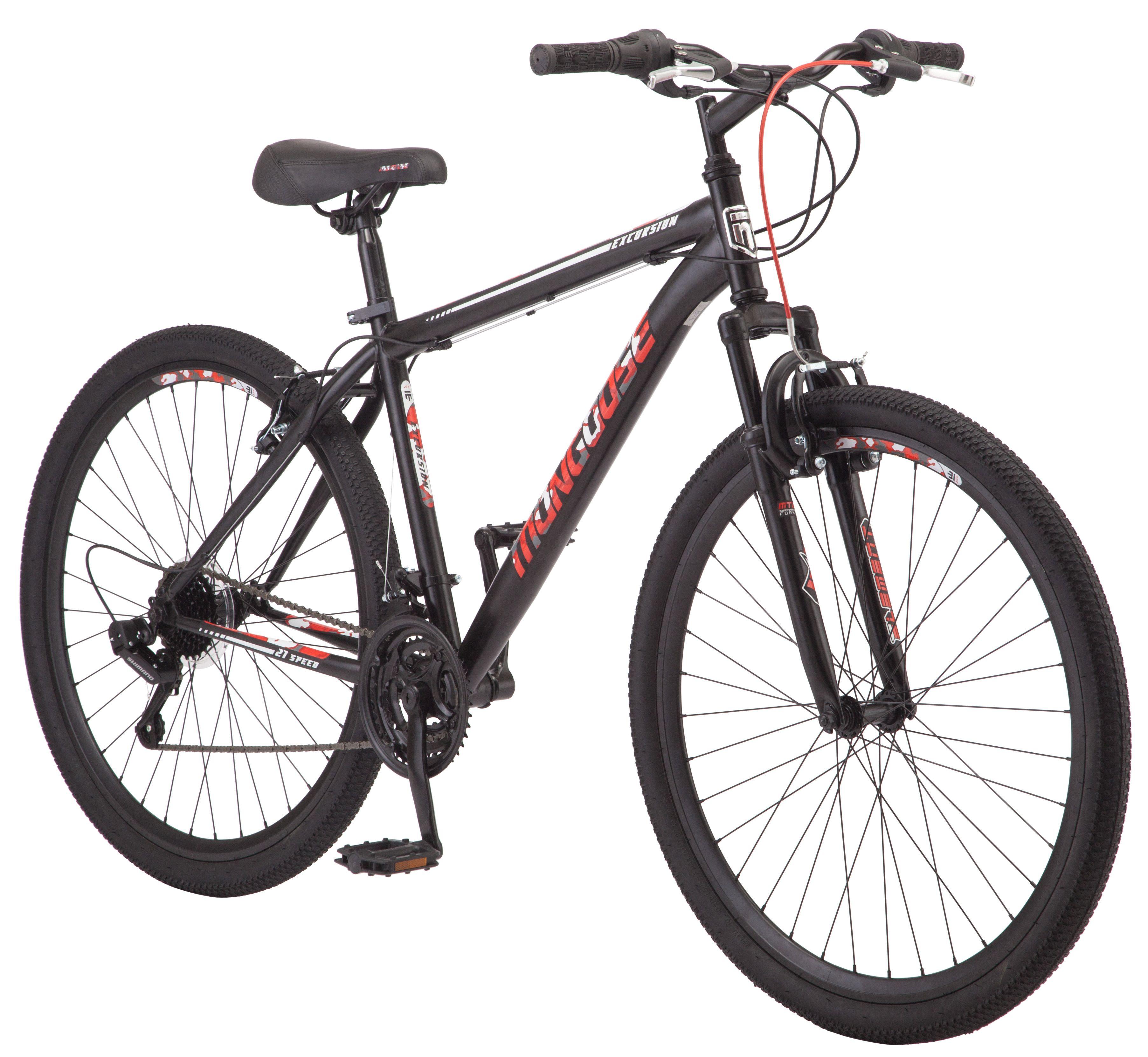 Mongoose Excursion Mountain Bike Men S 27 5 Black Red Walmart Com Mens Mountain Bike Hardtail Mountain Bike Bicycle