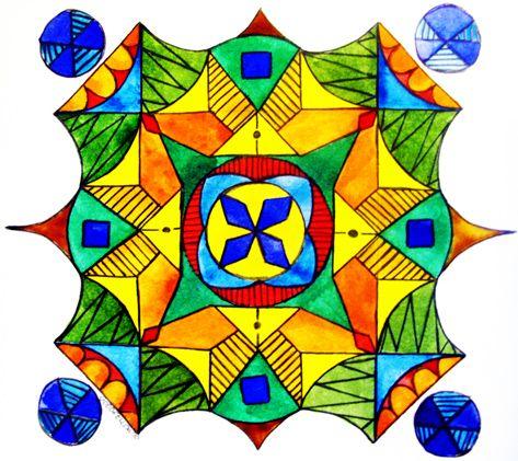 El significado de los colores del aura. Mandalas - Originalmente criadas em giz, as mandalas são um espaço sagrado de meditação. Atualmente, são feitas com areia originária da Índia. Normalmente divididas em quatro secções, pretendem ser um exercício de meditação e contemplação.