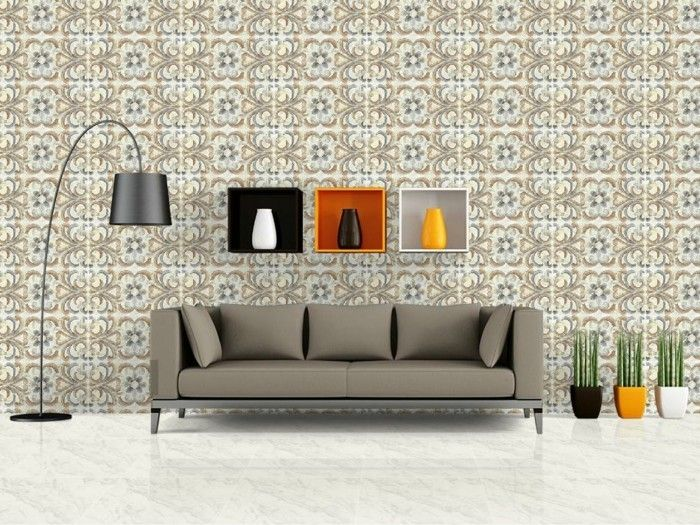 Wandfliesen Wohnzimmer Frisches Muster Heller Bodenbelag
