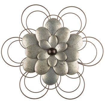 Layered Galvanized Metal Flower Wall Decor Hobby Lobby 1297548