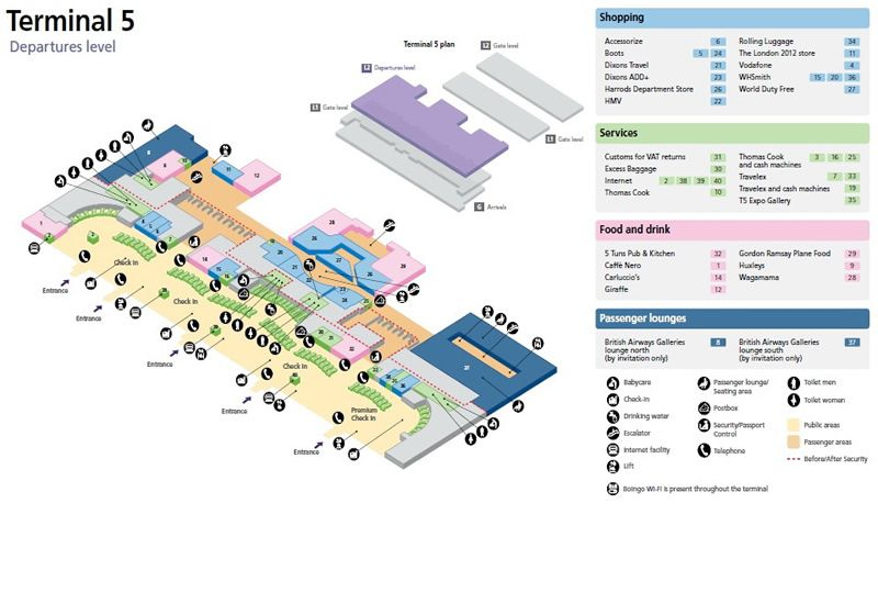 Heathrow Airport Map Terminal 5 Floorplan Visualizations