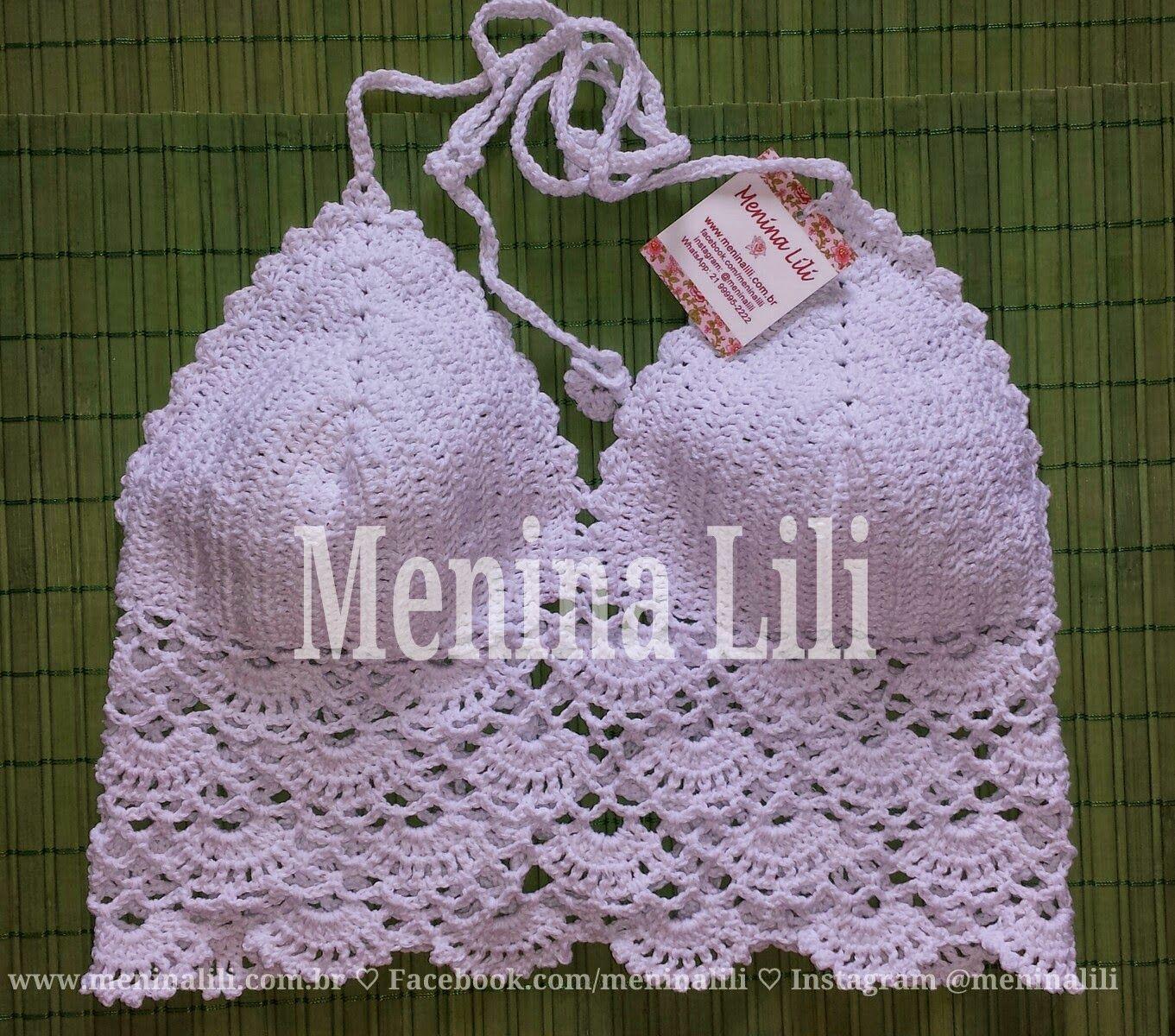 Menina Lili Croche: Encomendas voando.. Top Cropped de Crochê e Biquínis Menina Lili