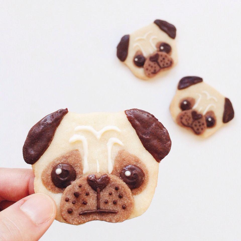 Pug cookies. | Sweets and drinks | Pinterest | Tortas niñas, Perro ...
